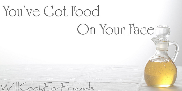 food on your face