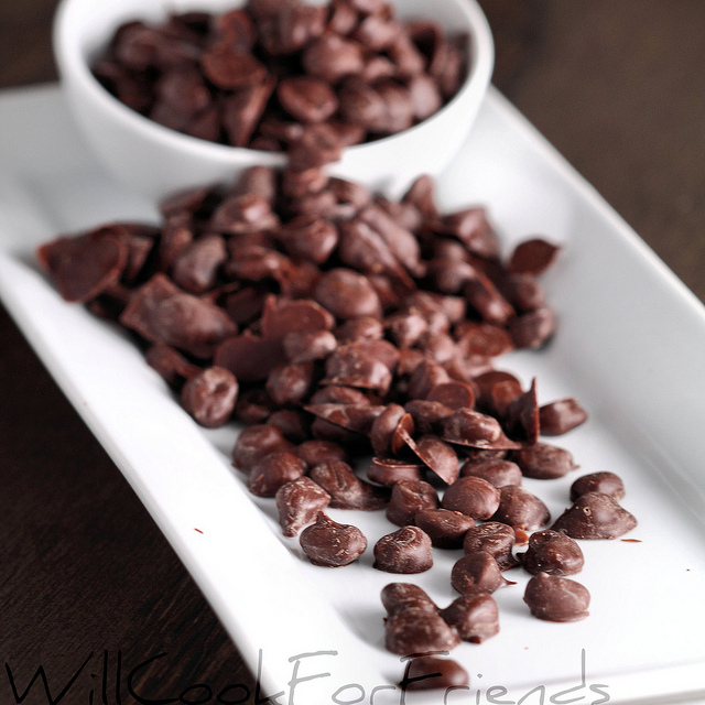 Coffee beans covered with chocolate