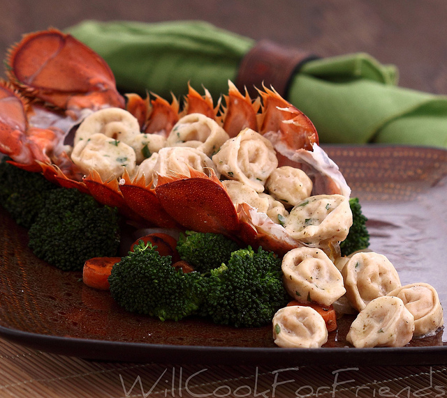 Lobster Tortellini with White Wine Cream Sauce - getting ...