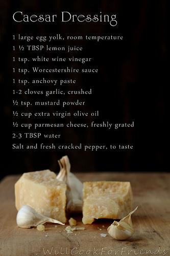 Easy recipe for caesar salad dressing