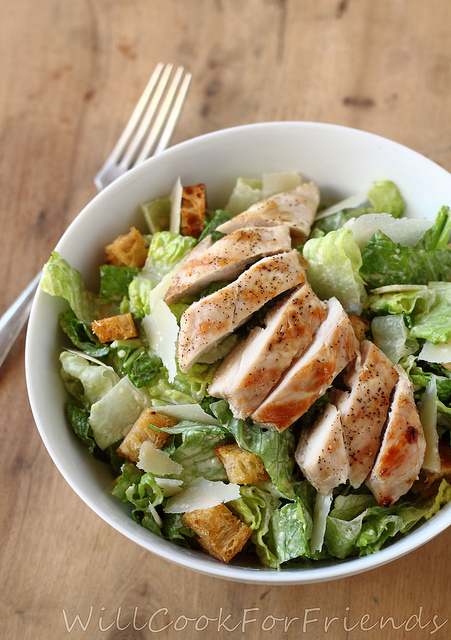 Grilled Chicken Caesar Salad With Homemade Dressing - Hail Caesar! - Will Cook For Friends