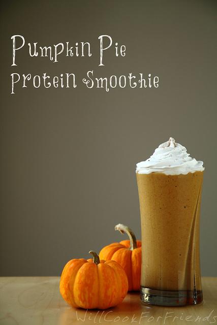 Pumpkin Pie Protein Smoothie - vegan, gluten free, refined sugar free ...