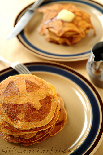 Pumpkin Pie Pancakes - Jack-O-Lantern Flapjacks - Will Cook For ...