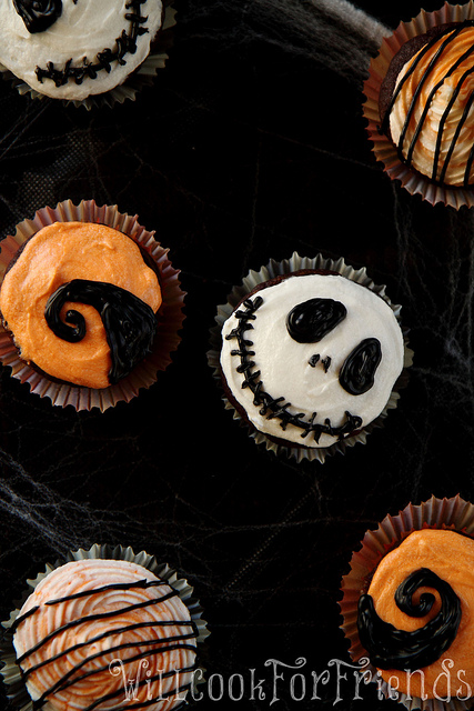 Nightmare Before Christmas Cupcakes, 1/4