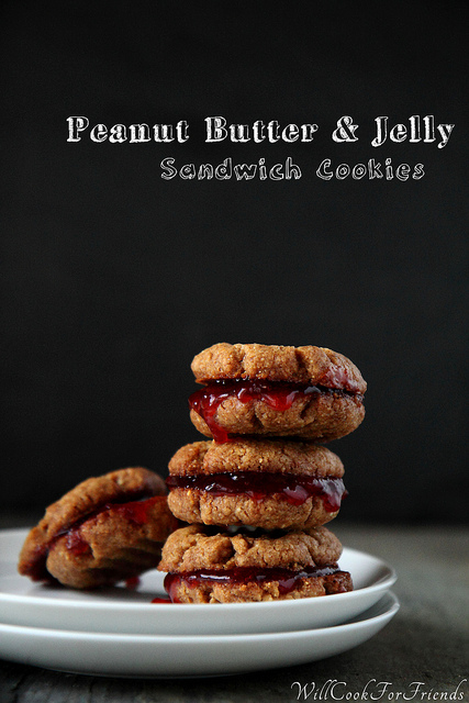 Peanut Butter & Jelly Sandwich Cookies