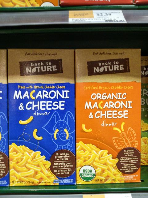 Back To Nature, Natural vs. Organic