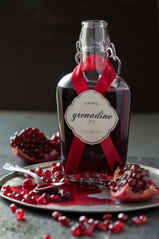 Easy Homemade Grenadine Syrup, and a recipe for Pomegranate Ginger Fizz