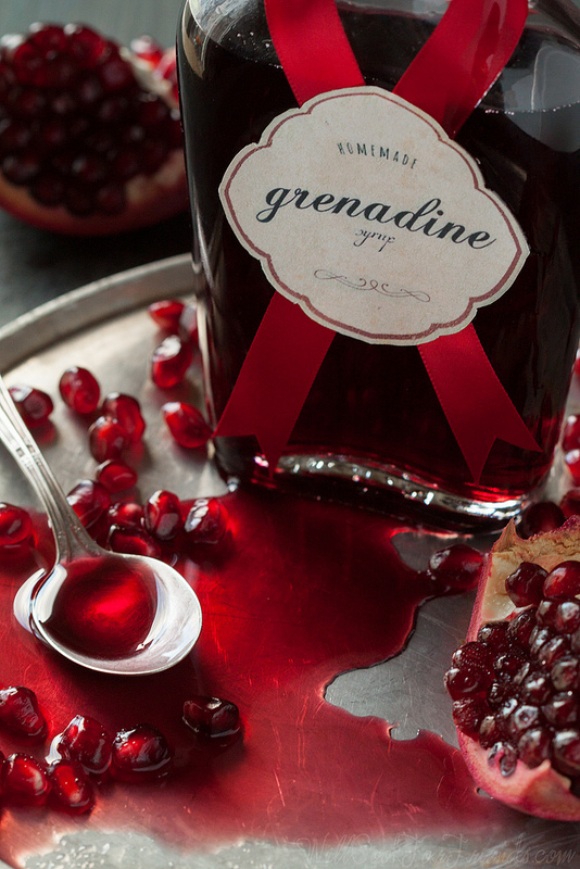 Easy Homemade Grenadine Syrup, and a recipe for Pomegranate Ginger ...