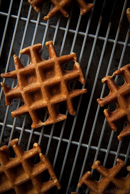 Pumpkin Waffles with Sage Maple Butter | Will Cook For Friends
