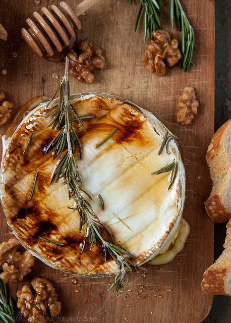 Baked Brie with Rosemary, Honey, & Candied Walnuts | Will Cook For ...