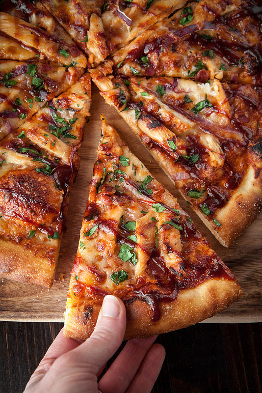 Barbecue Chicken Pizza, with Homemade