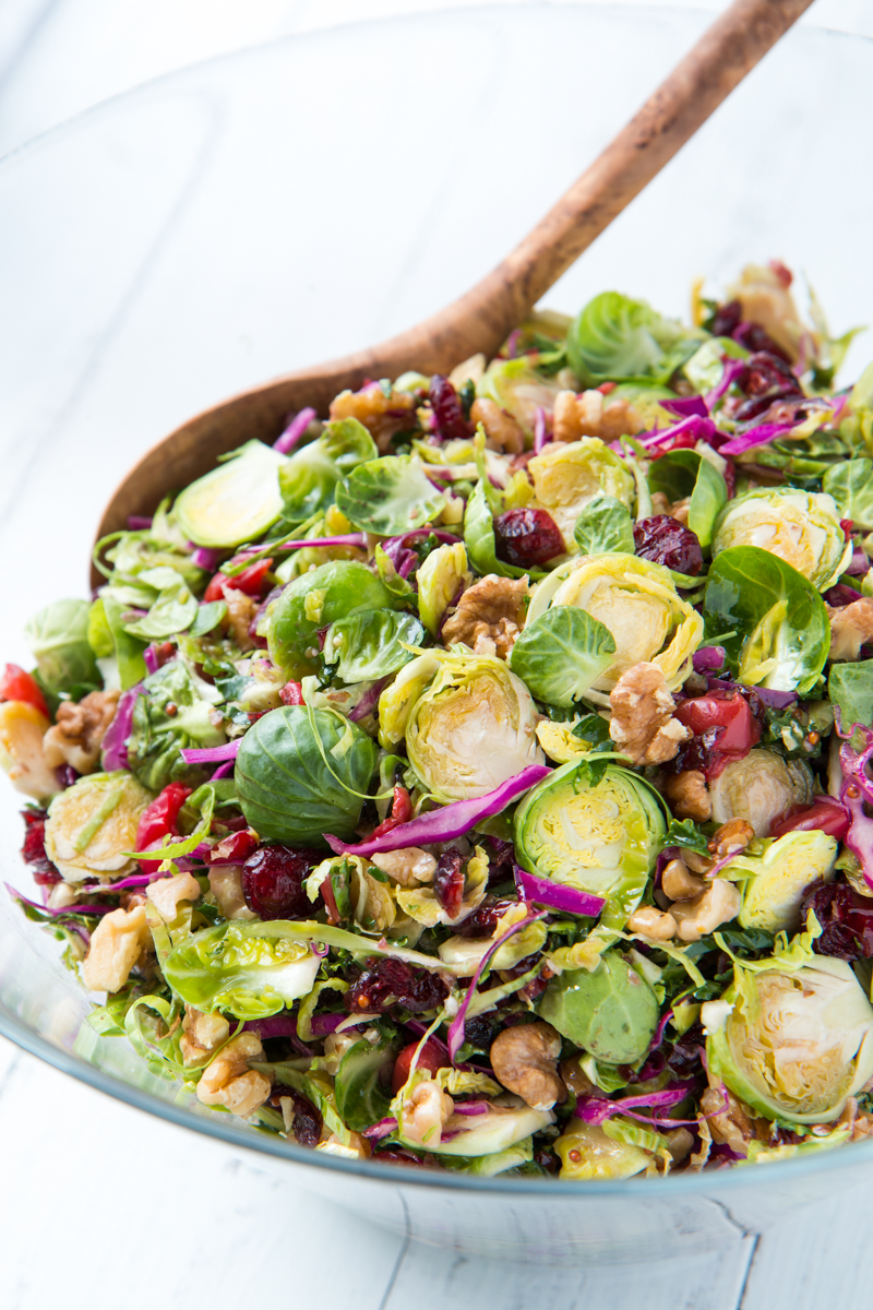 Brussels Sprout Slaw with Cherries and WalnutsWill Cook For Friends