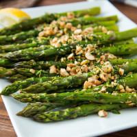 Roasted Asparagus with Hazelnut Gremolata, web-1