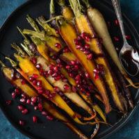 maple-pomegranate-glazed-carrots