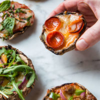 Portabella Stuffed Pizzas