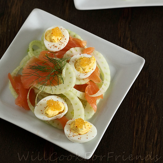 Fennel and salmon salad