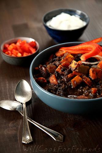 Black Bean & Butternut Squash Chili 1/2