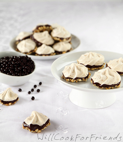 Chocolate Dipped Peanut Butter Meringue Cookies, 3/3
