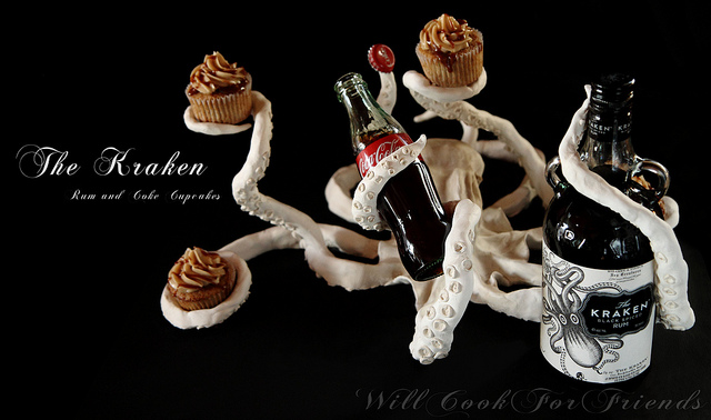 The Kraken Rum & Coke Cupcakes