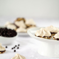 chocolate peanut butter meringue cookies