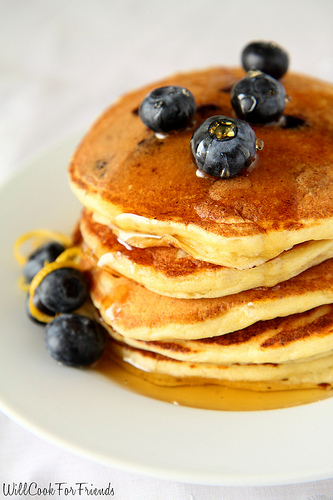 Lemon Blueberry Pancakes, 1/3