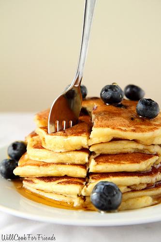 Lemon Blueberry Pancakes, 2/3