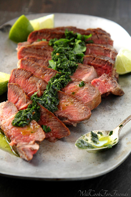 Pan-Seared Ribeye with Chimichurri Sauce & 12 Tips for the Perfect Steak | Will Cook For Friends