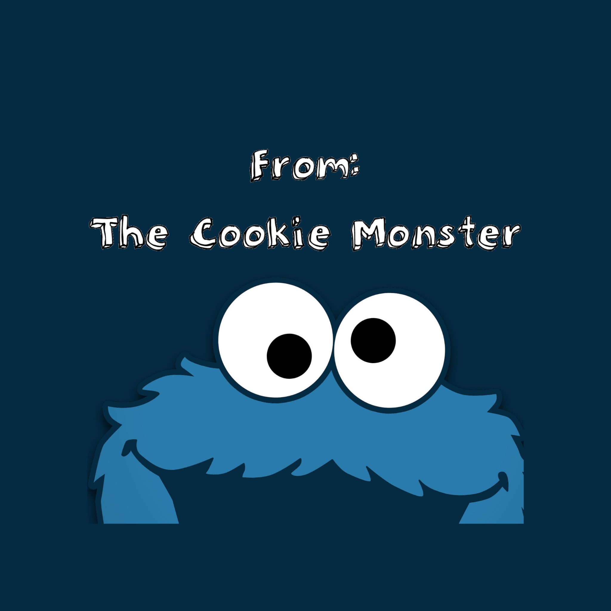 Cookie Monster gift tag | Will Cook For Friends