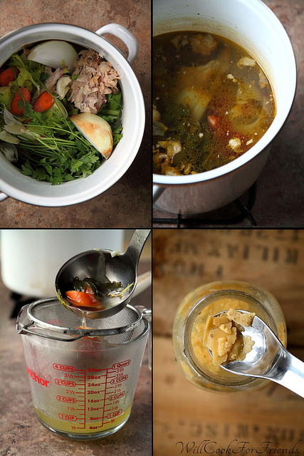 Homemade Chicken Stock (step-by-step)