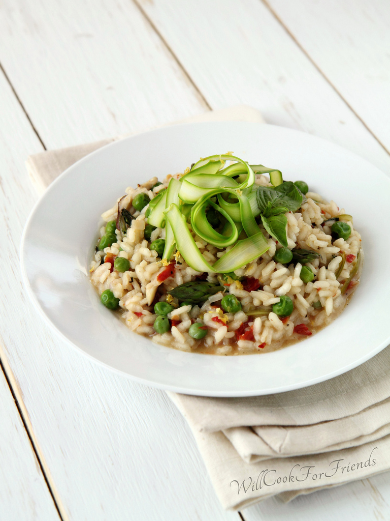 Spring Risotto with Shaved Asparagus: Dispelling the Myth that Risotto is Hard