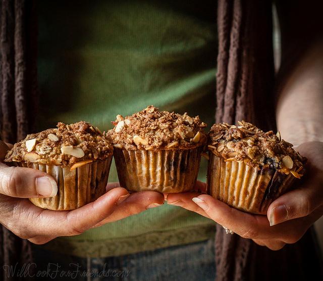 Gluten-Free & Vegan Blueberry Almond Streusel Muffins