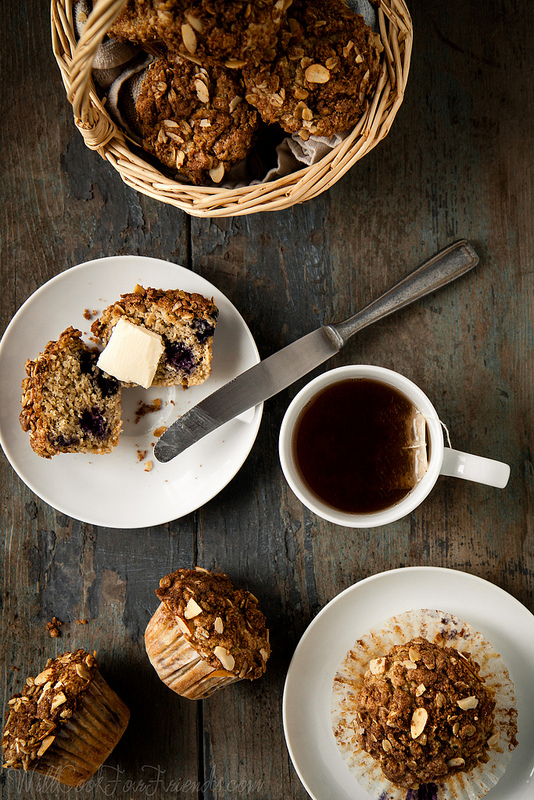 Blueberry Almond Streusel Muffins -- Gluten-Free, with Vegan Options