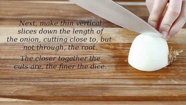 How To Cut An Onion (without the tears) - step 4