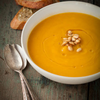 butternut squash soup with sage