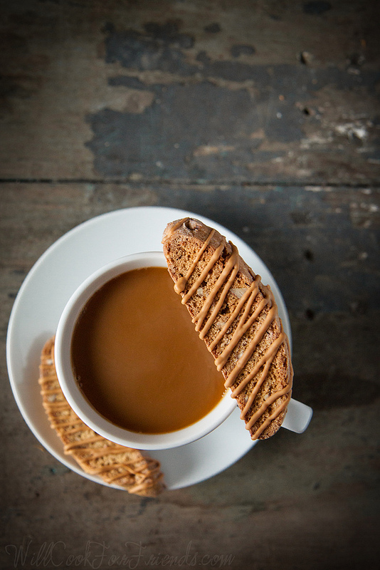 Pumpkin Biscotti with Caramelized White Chocolate