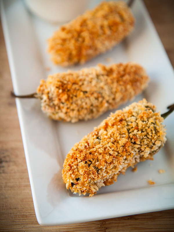 Baked Jalapeno Poppers with Sweet & Spicy Apricot Dipping Sauce (perfect for game day!) via Will Cook For Friends