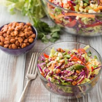 Asian Peanut Salad with Sweet & Spicy Honey Roasted Peanuts | Will Cook For Friends