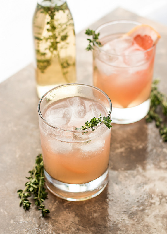 Grapefruit Thyme and Lillet Cocktail | Will Cook For Friends