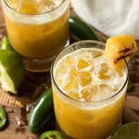 Grilled Pinapple Jalapeno Mezcal Margarita | Will Cook For Friends