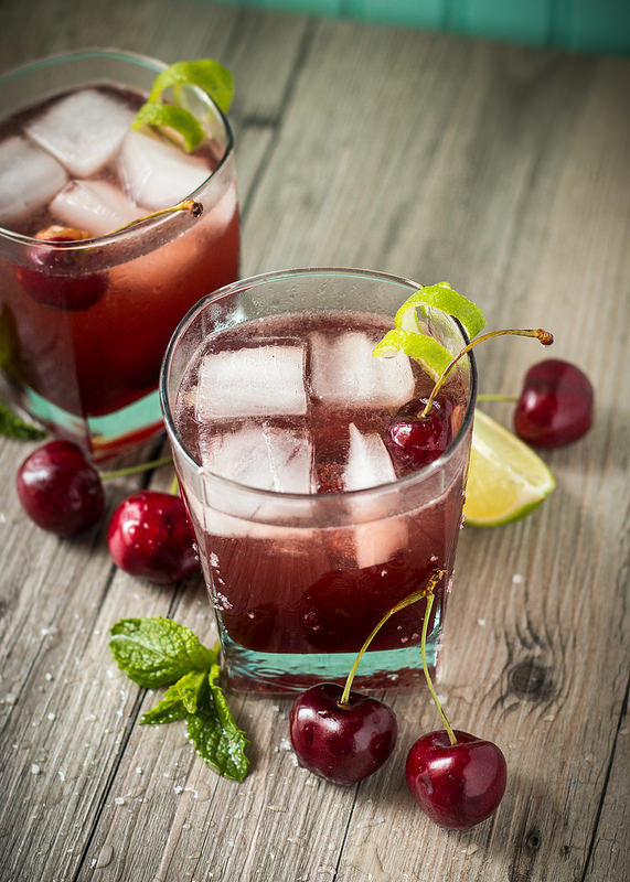 Sparkling Cherry Limeade with Homemade Maraschino Cherries | Will Cook For Friends