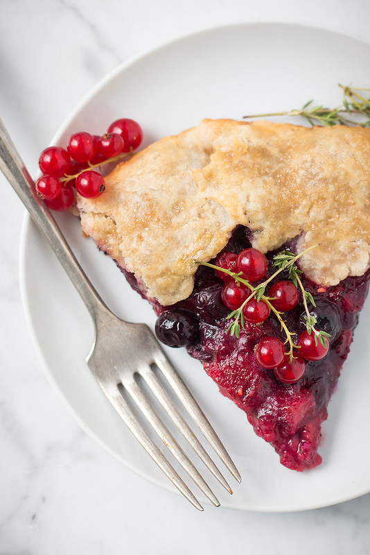 Summer Berry Galette With Lemon & Thyme | Will Cook For Friends