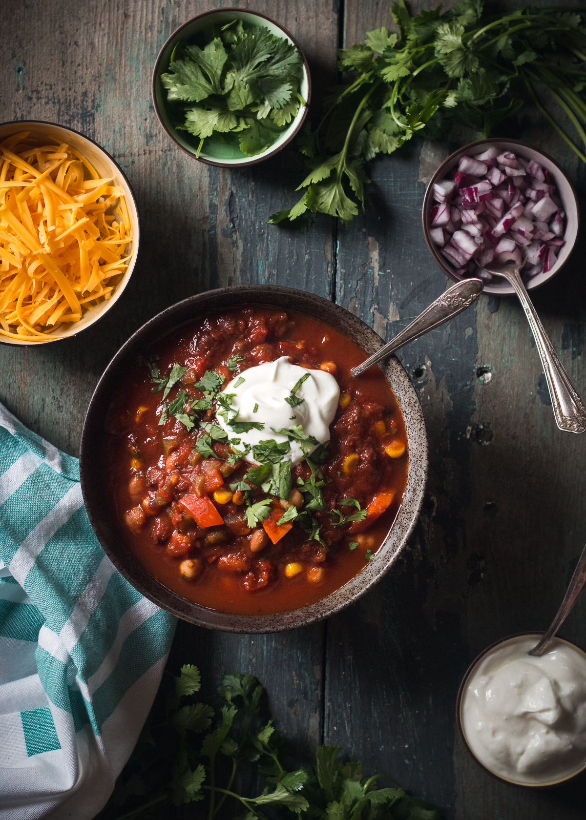 Vegetarian Three Bean Chili Will Cook For Friends