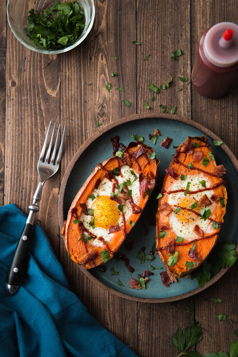 Baked Sweet Potato Egg Breakfast Boats Will Cook For Friends
