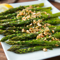 Roasted Asparagus with Hazelnut Gremolata, web-1