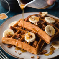 Crispy Whole Wheat Banana Bread Waffles | Will Cook For Friends