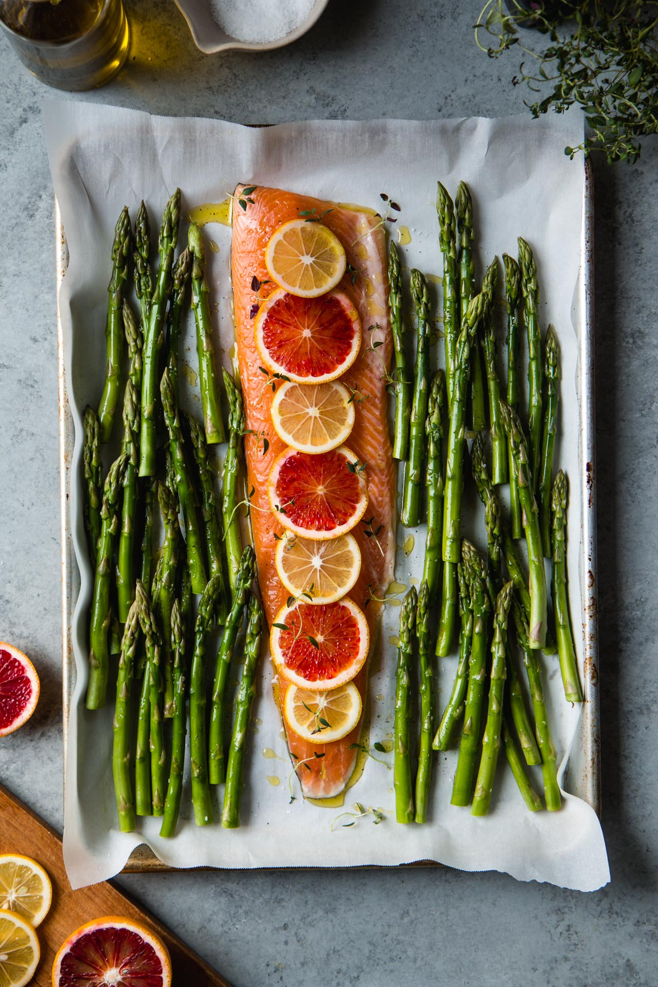 Citrus Baked Arctic Char With Asparagus One Pan 30