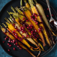 maple-pomegranate-glazed-carrots