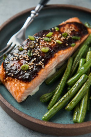 Miso and Ginger Glazed Salmon