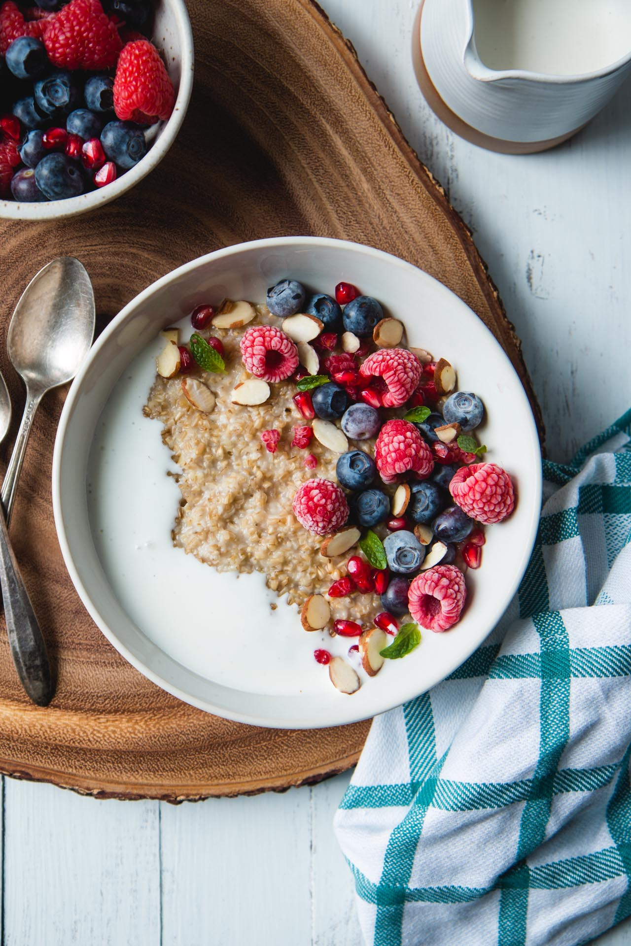 Steel Cut Oats with Kefir and Berries