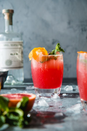 Blood Orange Vanilla Bean Gin And Tonic